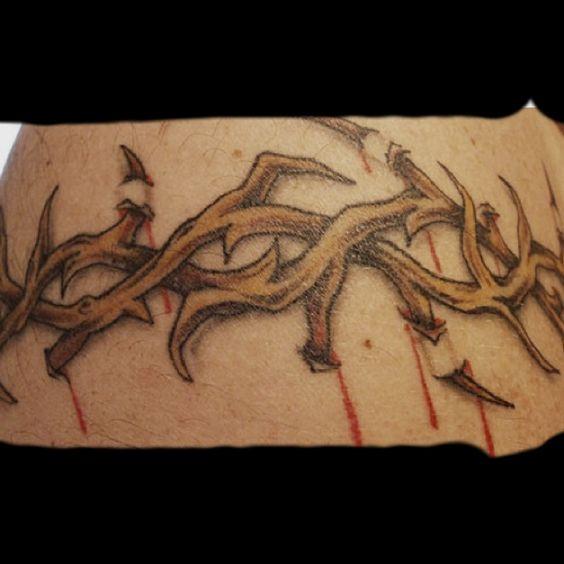 Crown of thorns wrist tattoo