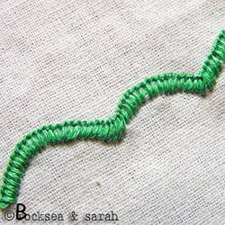blanket stitch scallops