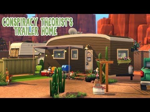 4 Conspiracy Theorist S Trailer Home The Sims 4 Strangerville Speed Build Youtube Sims House Sims Building Sims 4 Houses