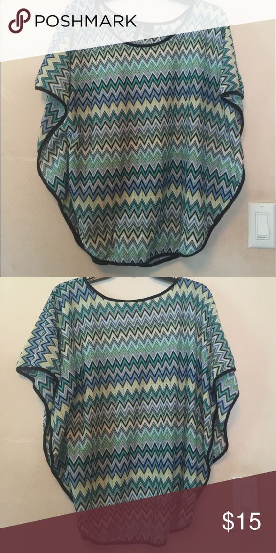 Blues Chevron Top Cute! different blues and greens! new directions Tops Blouses
