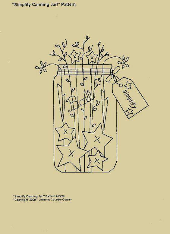 Primitive Stitchery EPattern Simplify par JoAnnCountryCorner, $2.00