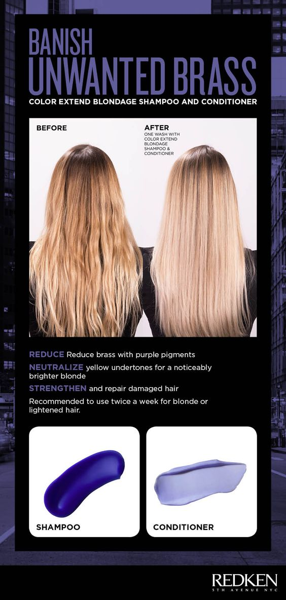 Banish Unwanted Brass With Color Extend Blondage How To Lighten Hair Redken Color Long Hair Color