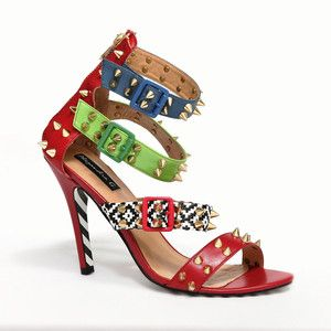 Trish Studded Sandal Red now featured on Fab.