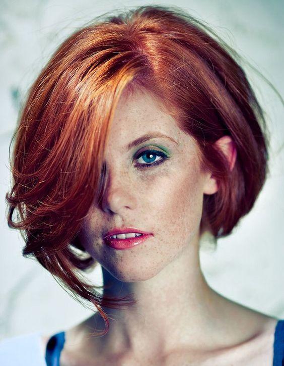 Carr s cheveux roux and couleur de cheveux on pinterest - Quelle couleur porter quand on est rousse ...