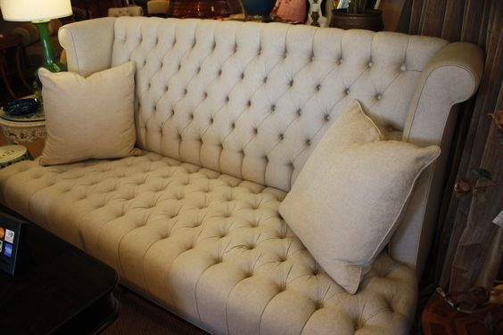 custom high back deep diamond tufted sofa by yours truly. Black Bedroom Furniture Sets. Home Design Ideas