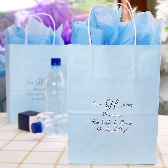 Custom Printed Paper Wedding Gift Bags Personalized wedding, Gifts ...