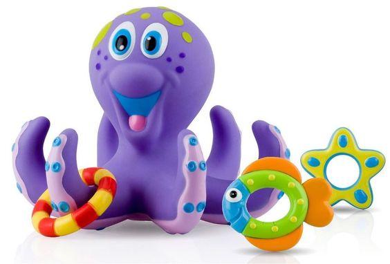 Octopus Floating Bath Toy Octopus Baby Hoopla Bathtime Fun Kids Interactive Toys #OctopusBabyUSA