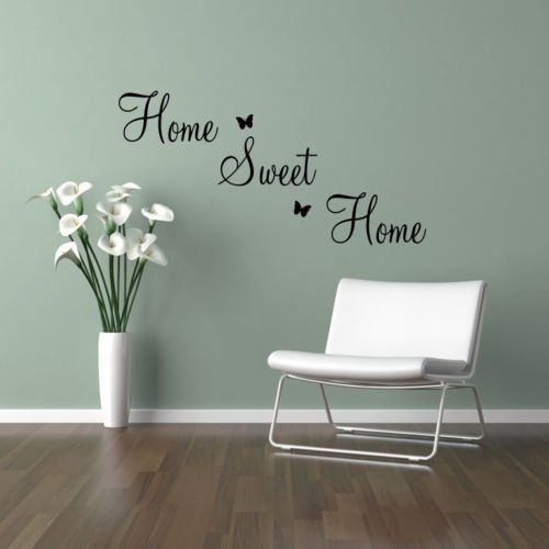 Home Sweet Home Quote Family Lounge Living Room Hallway Kitchen Bedroom Wall Sticker Wall Art Vinyl Wall Decal Wall Mural - Regular Size (Large size also ...