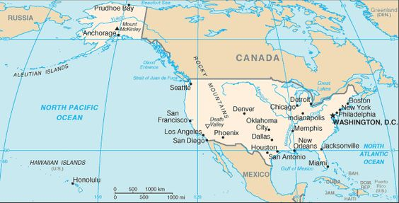 Stati Uniti d'America - Mappa