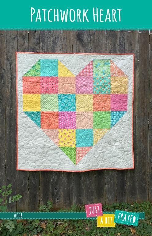 Patchwork Heart Baby Quilt Pattern: