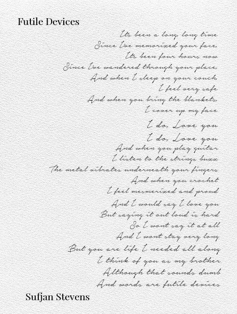 Futile Devices Callmebyyourname Elio Oliver Lyric Poem Lyrics Feelings
