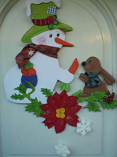 schneemann basteln ideen deko weihnachten baumwolle
