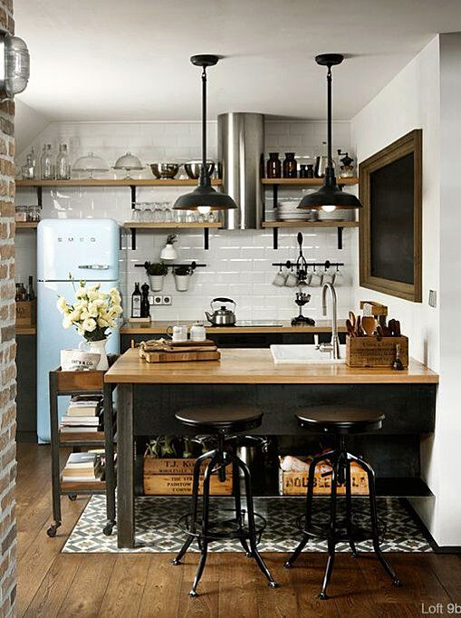 The 19 Most Incredible Small Spaces On Pinterest Kitchen Design Small Rustic Industrial Kitchen Industrial Style Kitchen