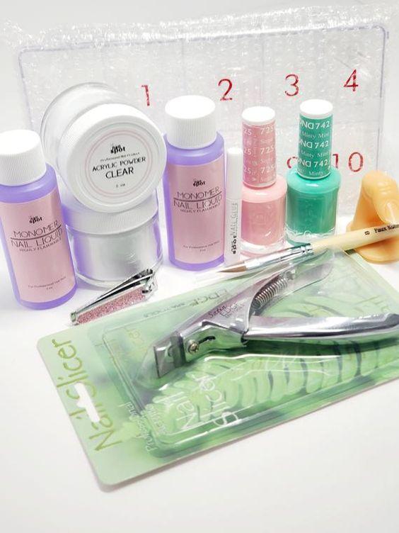 Cali Luv Acrylic Kit Acrylic Kit Acrylic Nail Supplies Etsy Acrylic Nail Supplies Nail Tutorial Videos Nail Supply