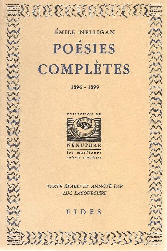 NELLIGAN, EMILE. Poésies complètes 1896-1899