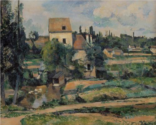 Moulin de la Couleuvre at Pontoise - Paul Cézanne