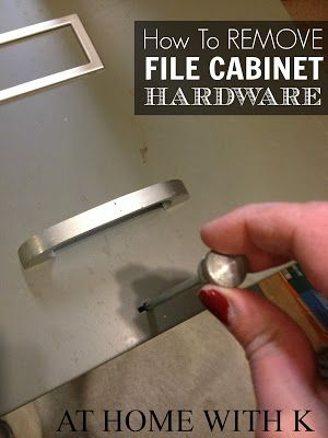 How to remove File Cabinet Hardware for DIY paint project