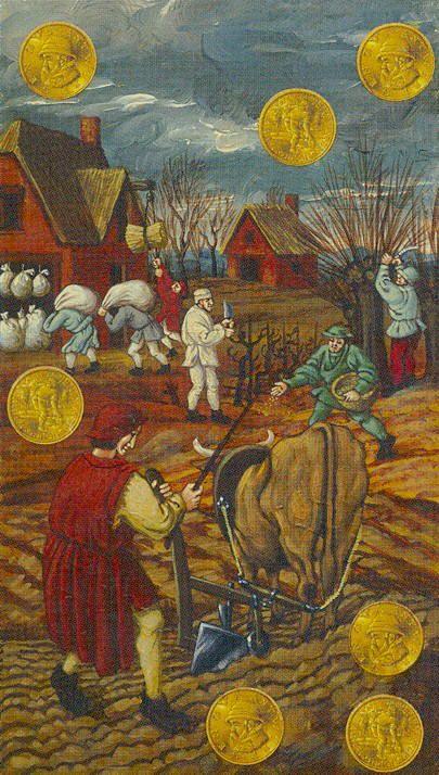 7 d'écus - Tarot Bruegel par Guido Zibordi Marchesi