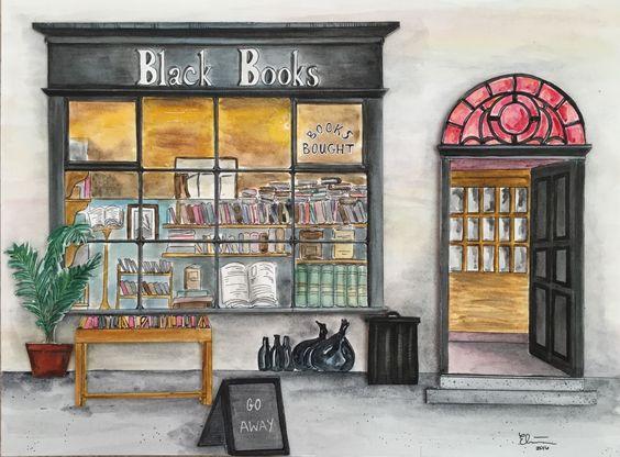 """ellieblazh: """"""""A loja é a maneira que é porque ele é do jeito que está.  Se não fosse do jeito que está, não seria do jeito que está.""""- Bernard Black da aguarela a bordo aquarela.  """""""