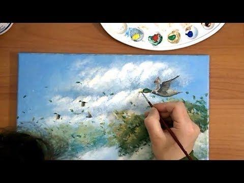 Dipingere Ad Acrilico Il Viaggio Di Sempre 2 2 L Anatra Con P Ezechiele Youtube Malen Anleitungen