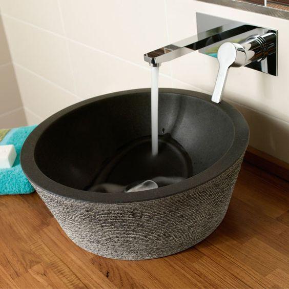 vasque natura granit poser 40xh16cm 339 chez lapeyre sdb vasque pinterest. Black Bedroom Furniture Sets. Home Design Ideas