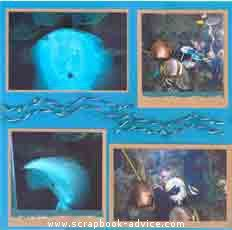 Aquarium Torn Paper Layout