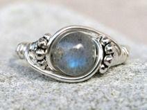 Labradorite Ring, Silver ring, Custom Sized