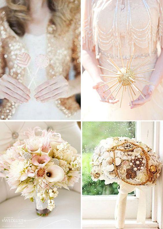 Tendencias de boda 2014 – Brillos y dorados