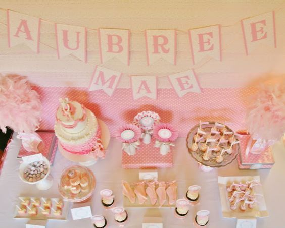 "Little Big Company | The Blog: Ballerina Baby Shower Dessert Table by ""And Everything Sweet"" Bunting"