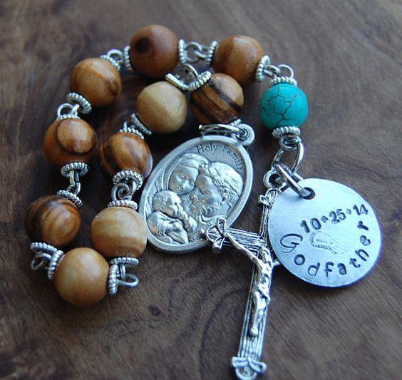 Gift For Godfather. Hand Stamped Gifts. Baptism. Olive by EkoLine