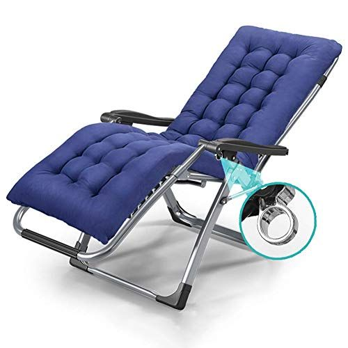 Adahx Outdoor Indoor Deck Chair With Cushion Zero Gravity Lounge Chair Recliners With Penumatic Adjustment For Pati In 2020 Balcony Chairs Lounge Chair Maternity Chair