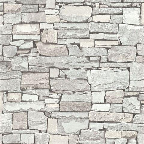2774 859126 Cream Stacked Slate Wallpaper Grey Stone Wallpaper Stone Wallpaper Faux Stone Wallpaper