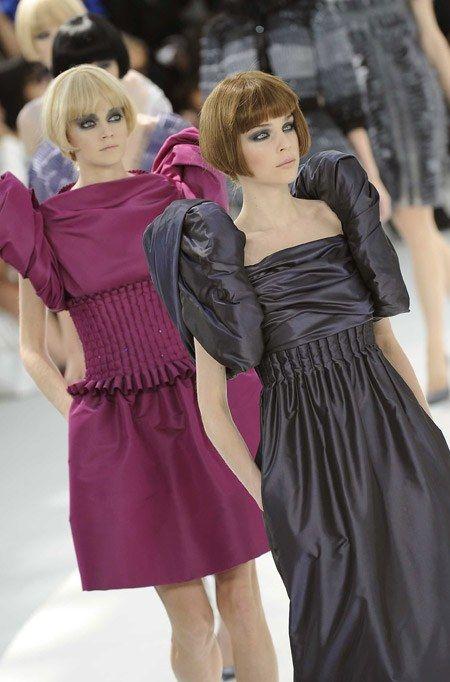 Robes manches ballon Chanel défilé haute couture automne hiver 2008