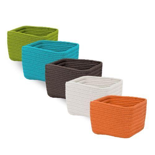 Braided Cube Flexible Basket Basket Storage Baskets Gifts 2015