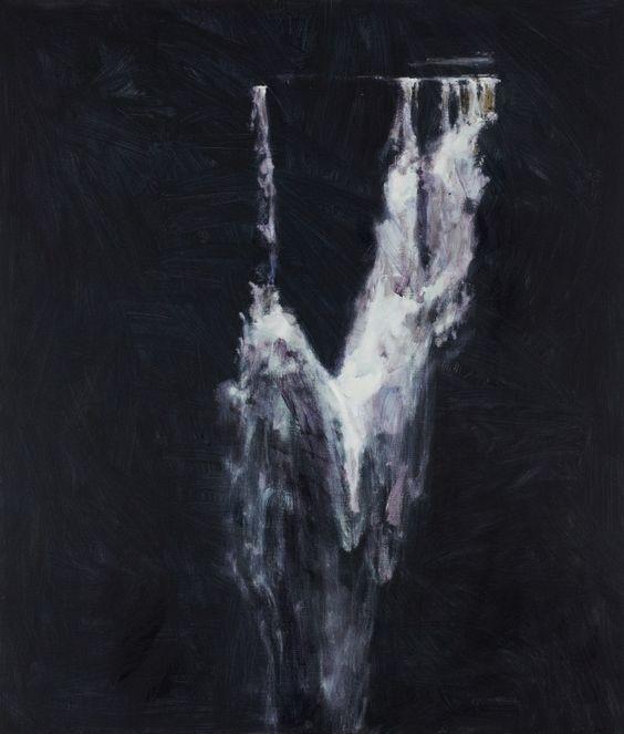 Guy Maestri, Study for falling water, 2013 Oil on linen, Landscape
