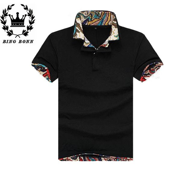 Find More T-Shirts Information about BingBonn Solid Turn down Collar Men Man T Shirts Short Sleeve Cotton Summer Casual Black White Green Grey Blue 20,High Quality polo shirt white,China polo shirt short sleeve Suppliers, Cheap polo shirts business from King Fashion 2014 on Aliexpress.com