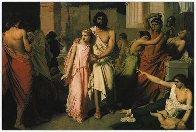 """""""Antigone aidant Œdipe"""" de C. Jalabert Les carnets d'Eimelle littérature théâtre voyage: Antigone théâtre et peinture 1"""