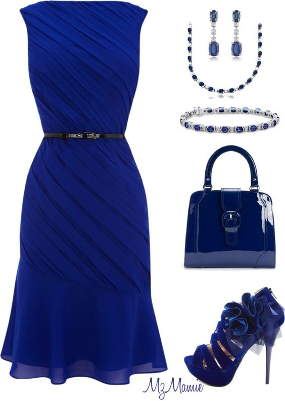 Love the dress, jewelry and purse! The shoes are cute, but I would probably choose something a little different.
