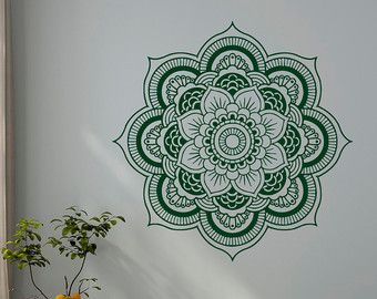 Wand Aufkleber Mandala Ornament Lotus Blume Yoga von FabWallDecals