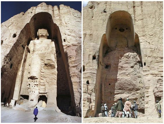 Bamiyan Buddha Where Genghis Khan had not succeeded in fully destroying the statue during his 13th century siege of the valley, the Taliban finished the job 8 centuries later, taking something from Afghanistan that could never be returned, leaving nothing but an empty shell. bamyan_buddha_before_after_taliban_attack (1)