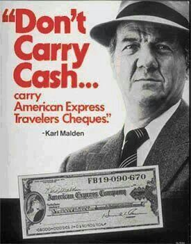 American Express Travelers Cheques...