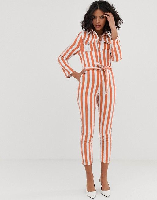 order online the cheapest professional sale FAE fitted stripe boilersuit in 2019   Boiler suit, Asos ...