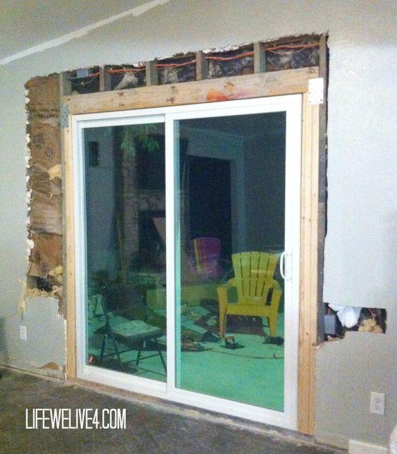 Diy Install Patio Door Patio Door Installation Sliding Patio Doors Patio Doors