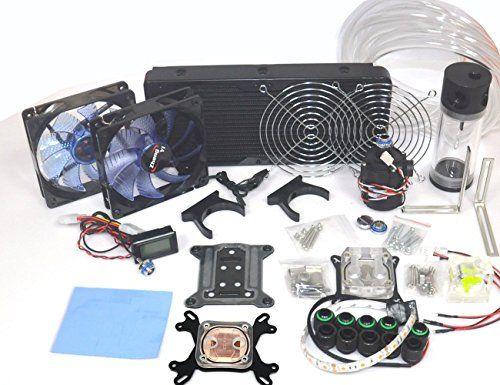 Diy Water Cooling Kit Computer Liquid Cooler Complete Kit Cpu Gpu