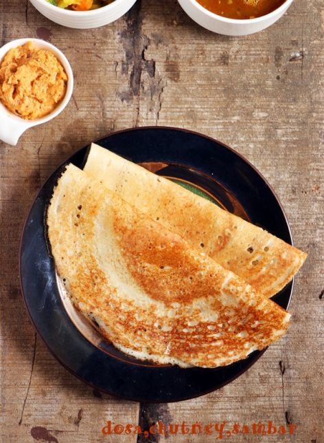 Crispy, tasty and thin rice crepe along with dosa batter!