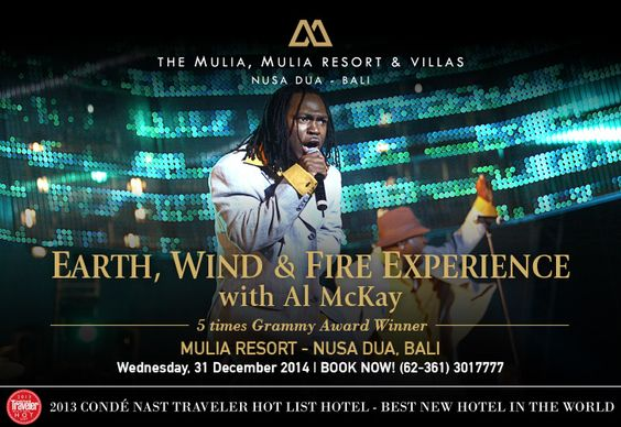 Earth Wind & Fire Experience with Al McKay - 31 December 2014 at Mulia Resort, Bali, Indonesia