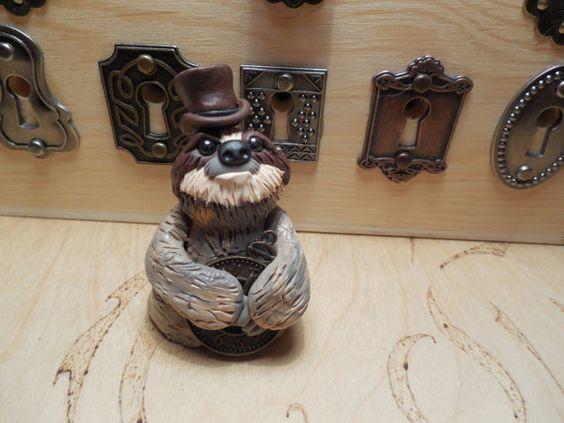 Dapper Steampunk Sloth by SeaMonkeyCoveTC on Etsy
