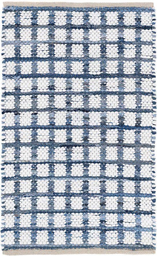 Denim Rag Squares Woven Cotton Rug Dash Albert Cotton Rug Cotton Rag Rug Cotton Area Rug