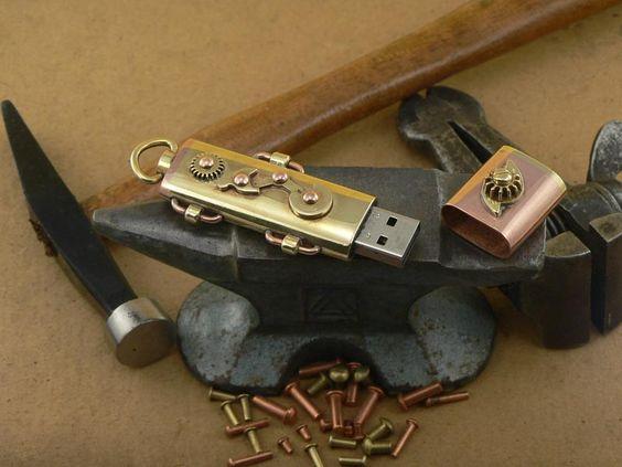 The Portable Steampunk USB Flash Drive