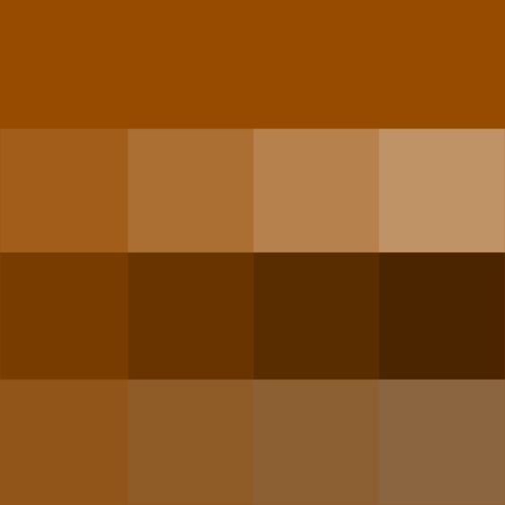 brown hue tints shades tones hue pure color